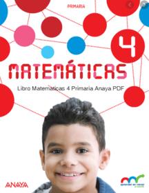 Libro Matematicas 4 Primaria Anaya PDF