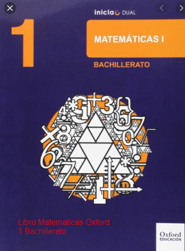 Libro Matematicas Oxford 1 Bachillerato