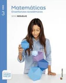 Libro de Matematicas 3 ESO SANTILLANA Academicas PDF