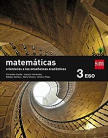 Libro de Matematicas 3 ESO SM SAVIA Academicas
