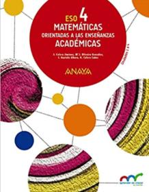 Libro de Matematicas 4 ESO ANAYA Academicas PDF