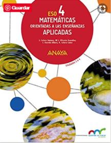 Libro de Matematicas 4 ESO ANAYA Aplicadas PDF