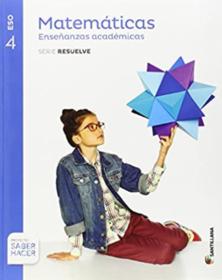 Libro de Matematicas Academicas 4 ESO Santillana