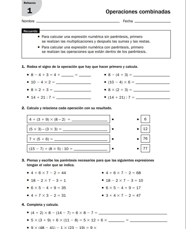 Refuerzo Y Ampliacion Matematicas 6 Primaria Santillana Pdf
