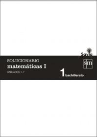 Solucionario Matematicas 1 Bachillerato SM