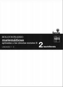 Solucionario Matematicas 2 Bachillerato SM Ciencias Sociales