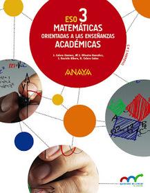 Solucionario Matematicas 3 ESO ANAYA Academicas