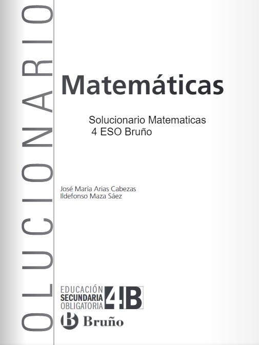 Solucionario Matematicas 4 ESO Bruño