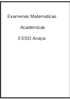 examenes matematicas academicas 3 eso anaya